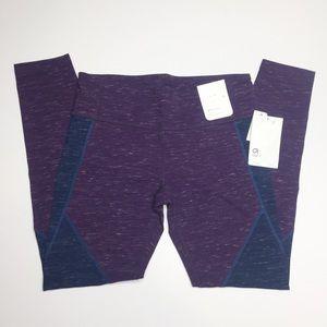GAP Fit leggings purple blue performance cotton